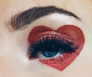 eye, eyes, and heart image