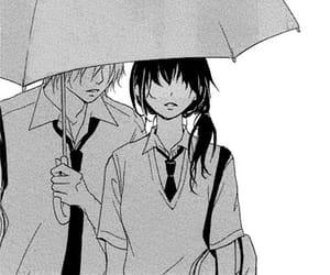 black&white, monochrome, and manga boy image