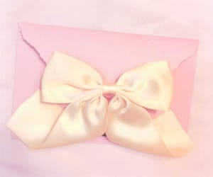 bow, girly, and envelope image