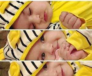baby, yellow, and cute image