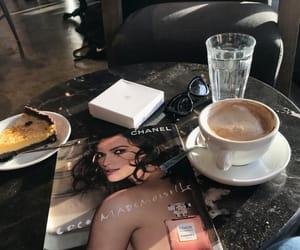 chanel, coffee, and magazine image