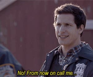 andy samberg, gif, and brooklyn nine nine image