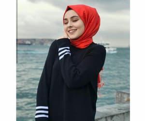 hijab, christmas, and fashion image