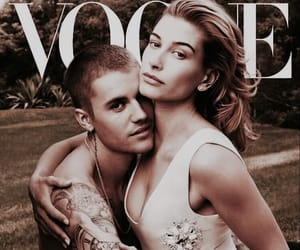 vogue, justin bieber, and hailey baldwin image