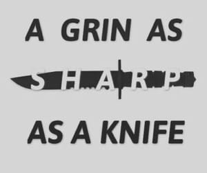 knife and quotes image