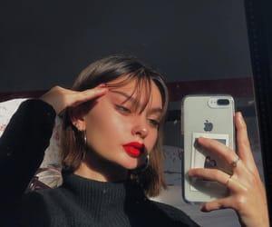 aesthetic, girls, and lipstick image