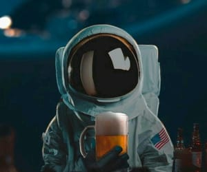wallpaper, astronaut, and beer image