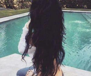 girls, tumblr, and long hair image