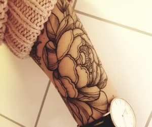 flower, ink, and Tattoos image