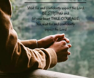 courage, psalm, and god image