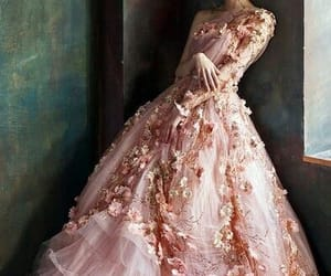 flower, pink, and pretty dress image