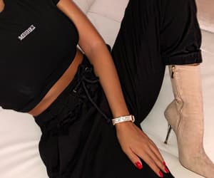 beige, jewerly, and outfit image