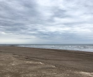 beach, foggy, and places image