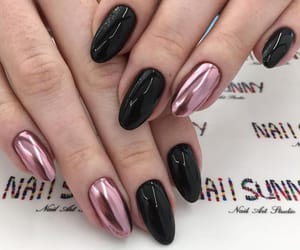 black, metal, and nails image
