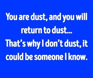 dust, funny, and you are image