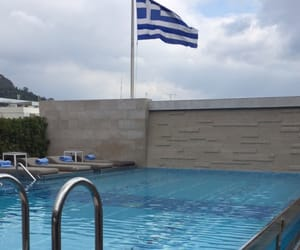 beautiful, flag, and Greece image