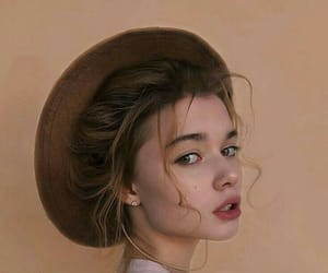 girl, hat, and beauty image