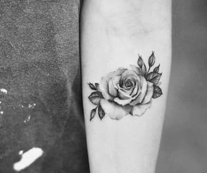 alternative, rose, and body art image