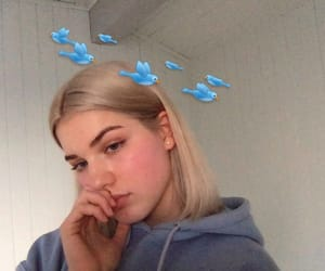 birds, bleached hair, and white hair image