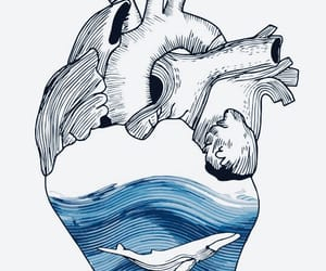 art, heart, and sea image