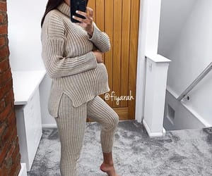 brune brunette, woman lifestyle, and pregnant mother image