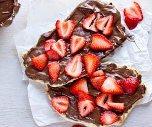 strawberry, food, and chocolate image