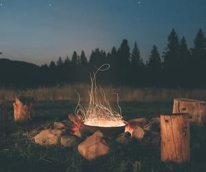 fire, nature, and night image