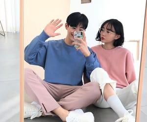 couple, kfashion, and ulzzang image