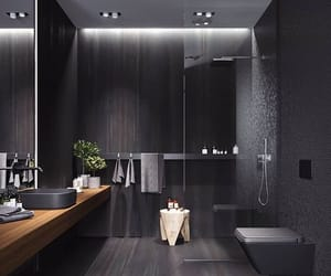 home, black, and bathroom image