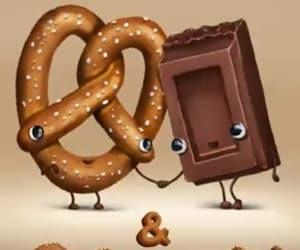 chocolate, lol, and pretzel image