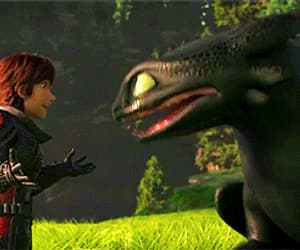 animation, cartoon, and toothless image