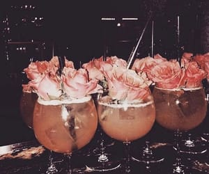 drink, flowers, and roses image