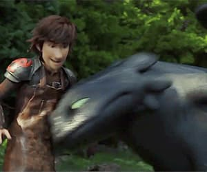 animation, disney, and toothless image