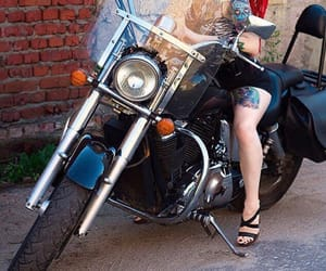 dreadlocks, motorcycle, and pinup image