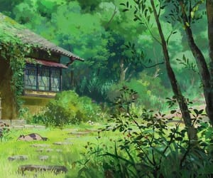 anime, green, and nature image