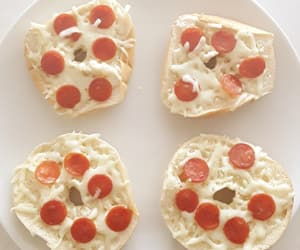 mini, pepperoni, and pizzas image