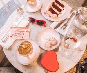 cake, coffee, and couple image