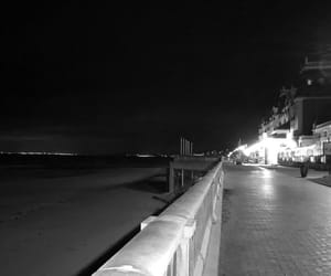 night, normandie, and plage image