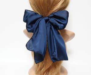 etsy, satin hair bow, and hairbowforwomen image