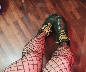 dr. martens, green boots, and green dr martens image