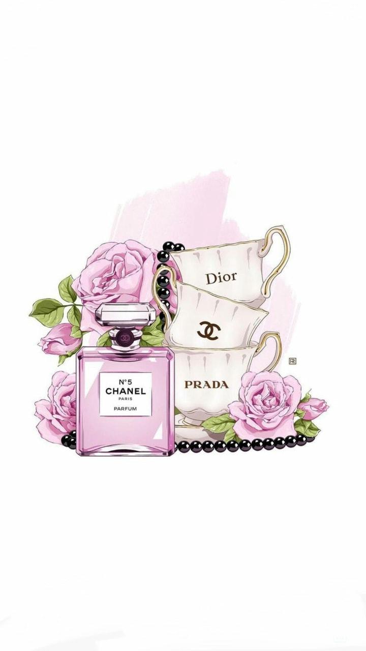 chanel, Prada, and wallpaper image