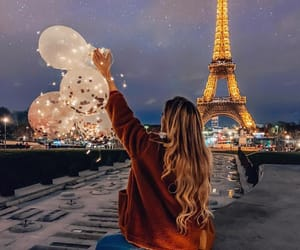 girl and eiffel tower image