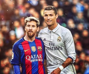 messi, real madrid, and Barcelona image