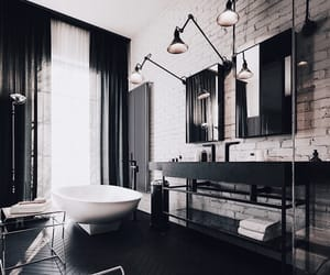 bathroom, home, and modern image