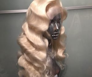 blonde, wig, and hair image