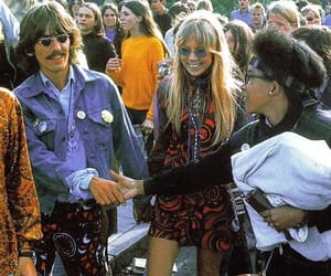 george harrison, pattie boyd, and 60s image