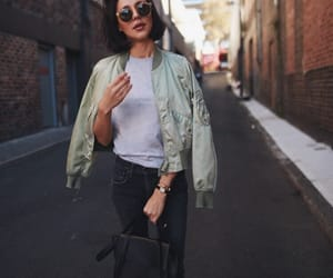 black jeans, blogger, and bomber image