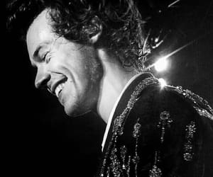 black and white, Harry Styles, and harry image