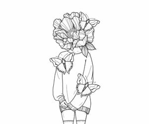 black, blackandwhite, and draw image