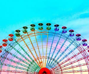 colorful, colors, and ferris wheel image